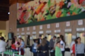 A fila para a compra dos bilhetes
