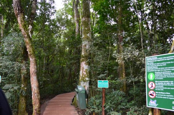 Entrada para a segunda parte da trilha